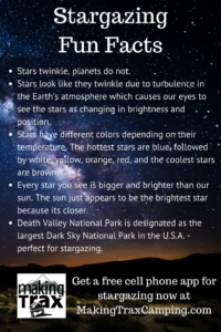 Star gazing fun facts