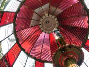 Red and white Fresnel lens