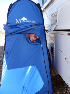 Mount Rhino privacy pop-up tent for camping showers