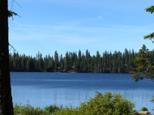 Dispersed camping by Huntington Lake